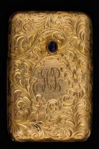 Battin Gold & Sapphire Match Safe - Circa 1900
