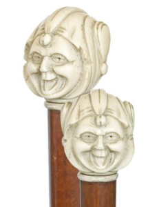 Carved Ivory Jester - English 19th Century